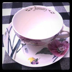 BNWT Spode January Teacup & saucer
